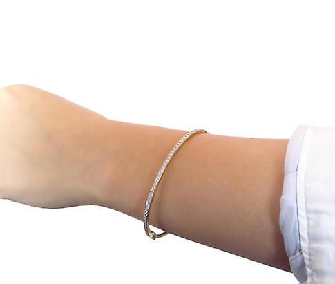 Bicolor armband met zirkonia