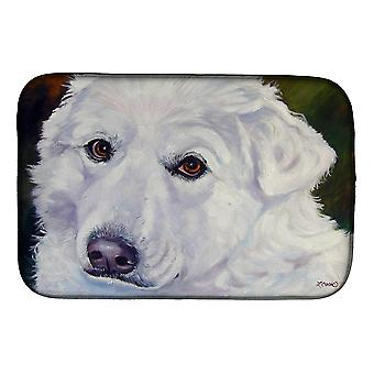 Carolines Treasures  7418DDM Great Pyrenees Contemplation Dish Drying Mat