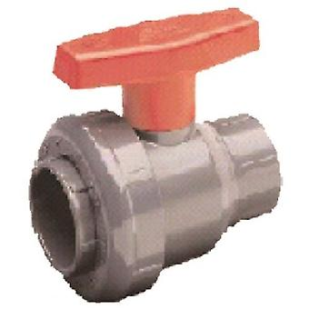 Spears 2411015W 1.5 FPT PVC 2-Way Ball Valve 2411-015W