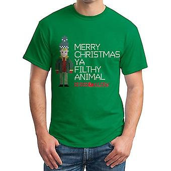 Home Alone Kevin Right Stitch Men's Kelly Green T-shirt