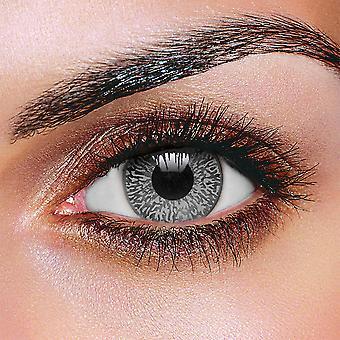 Zweifarbige Mystic grau Kontaktlinsen (Paar)