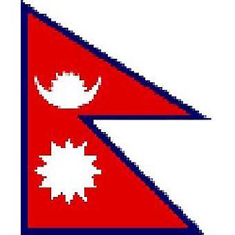 Nepalin lippu 5 jalkaa x 3 ft jossa ripustamista varten