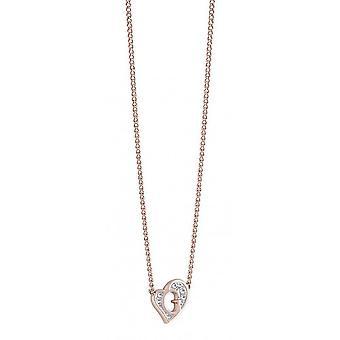 Угадать дамы цепи ожерелье нержавеющей стали розовое золото UBN71538