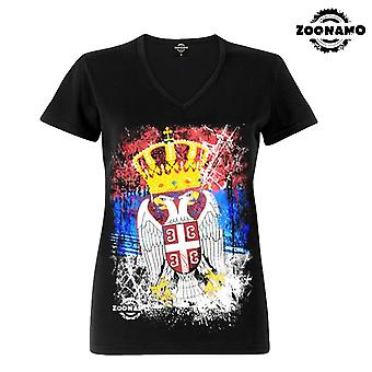 Zoonamo T-Shirt ladies classic for Serbia