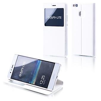 תיק הספרים חלון לבן עבור Huawei P10 Lite
