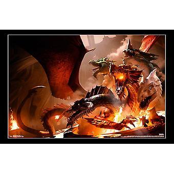Calabozos y dragones - impresión del cartel de Tiamat