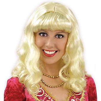 Princess hår lockar Weißblond