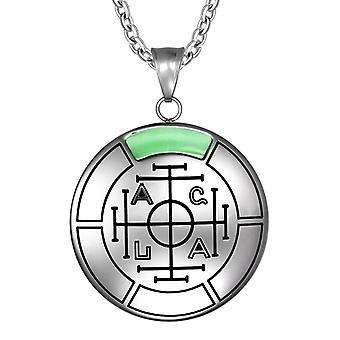 Fortune Wealth and Success Magic Medallion Amulet Pendant Necklace