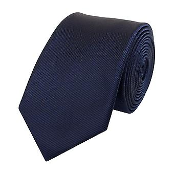 Slips Tie Ties Binder Narrow 6cm Dark Blue Textured Fabio Farini