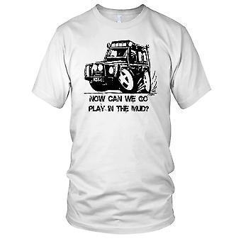 Landrover Defender nu spela i lera Mens T Shirt