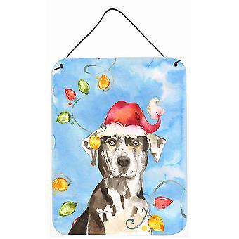 Christmas Lights Catahoula Leopard Dog Wall or Door Hanging Prints