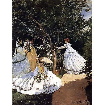 Women in the Garden,Claude Monet,50x40cm