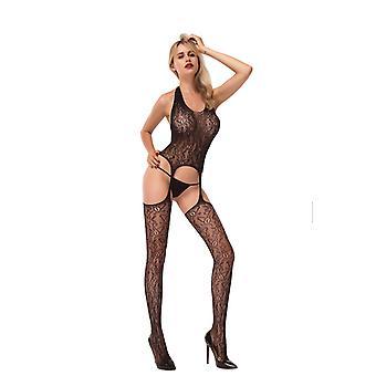 Sexy body socks in black IE8902