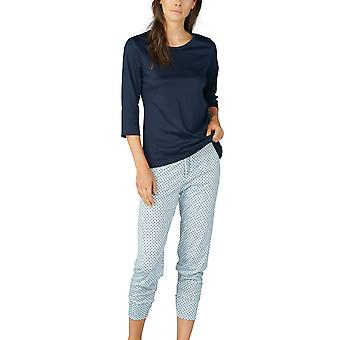 Mey 13954-408 Femmes-apos;s Sonja Night Blue Spotted Cotton Pyjama Set