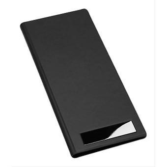 David Van Hagen PU Business Card Organiser - Black