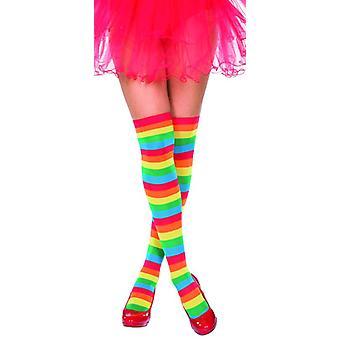 Kousen Rainbow patroon knie highs Rainbow accessoire Carnaval Unicorn Unicorn