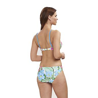 Féraud 3195075-16363 Women's Beach Flowers Multicolour Floral Swimwear Beachwear Bikini Set