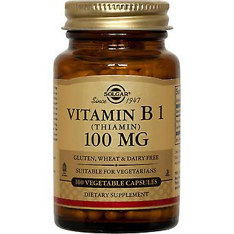 Solgar Vitamin B1 (Thiamin) 100 mg Vegetable Capsules 100ct