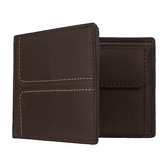 MIGUEL BELLIDO Men's Purse Purse wallet with RFID chip protection brown 7976