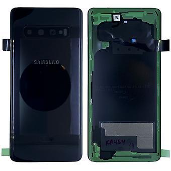 Samsung GH82-18378A couvercle couvercle de la batterie pour Galaxy S10 G973F + Pad adhésif noir prisme noir neuf