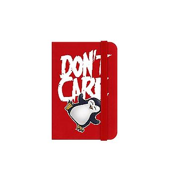 Psycho Penguin Don`t Care Mini Notebook