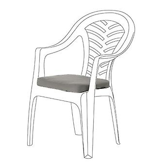 Grey Seat Cushions for Resol Palma Chair, Pack of 2