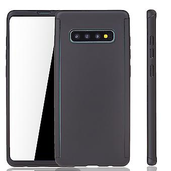 Samsung Galaxy S10 Phone Case Protection Case Full Cover Tank Protection Film Noir