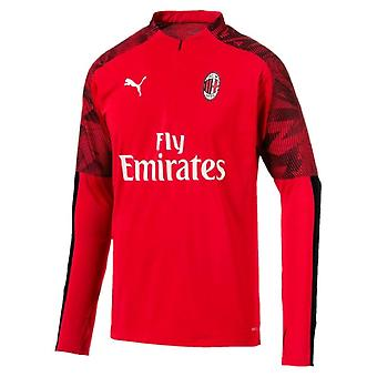 2019-2020 AC Milan Puma Quarter zip Training Top (punainen)-Kids