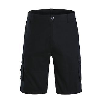 Allthemen Mens Chino Shorts Casual 100% Cotton Summer Half Pant Work Cargo Combat Shorts Dark Green