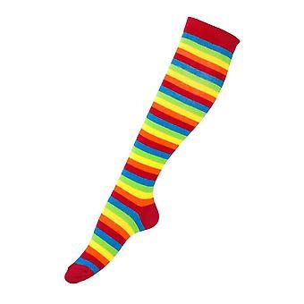Rainbow Stripe Knee High Socks