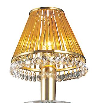 Diyas Crystal Clip-On Shade With Amber Glass Rods French Gold/Crystal