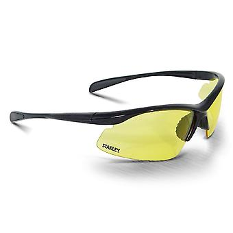 Stanley Unisex 10-Base Curved Half-Frame Safety Eyewear Nero/Giallo