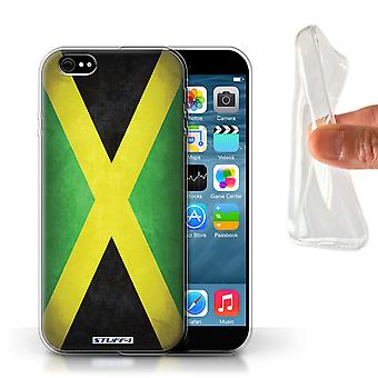 STUFF4 Gel TPU Case/Cover voor de Apple iPhone 6/Jamaica/Jamaicaanse/vlaggen