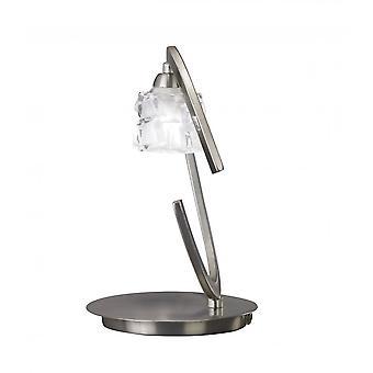 Mantra Ice Table lampa 1 ljus G9 ECO, satin nickel