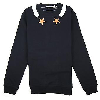 Givenchy Baby Blue trim ster Sweatshirt zwart