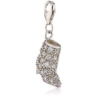 Pasionist Boots - Unisex - with pendant - silver Sterling 925 with zircons - color: white - 606897