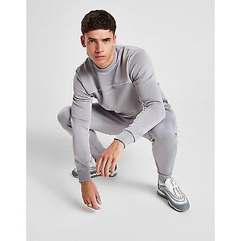 Nuovo McKenzie Uomo's Essenziale Poly Crew Sweatshirt Grigio