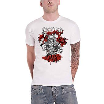 Exhumed T Shirt Gore Metal Maniac Band Logo new Official Mens White