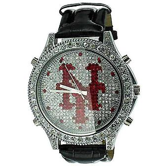 Ver nueva New York Micropave Leather Band Mr Wh0047