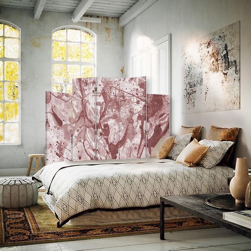 Diviseur de pièce décoratif, 5 panneaux, toile, peinture renversée 2