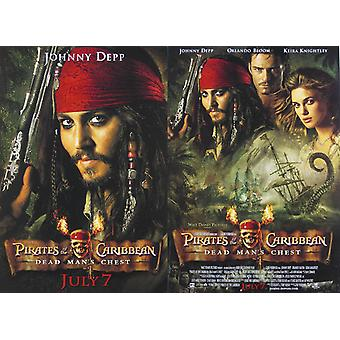 Pirates Of The Caribbean: Dead Man-apos;s Chest (Mini - Double Sided Diff Images) (2006) Original Mini Cinema Poster
