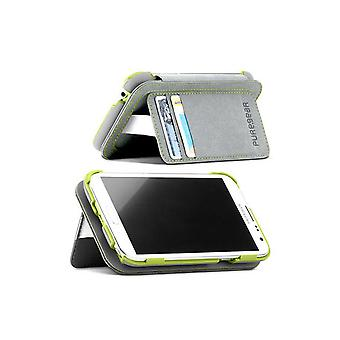 PureGear Folio Callet Case with Kickstand for Samsung Galaxy Note 2 - Gray/Green