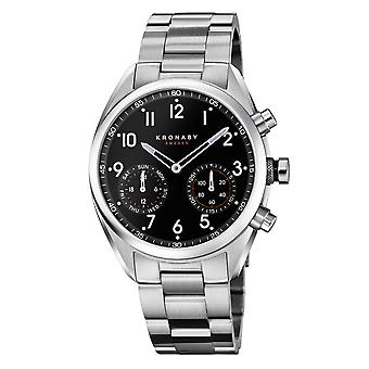 Kronaby S3111-1 Men's Apex Smartwatch Black Dial