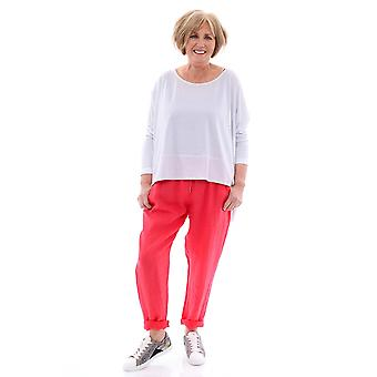Made In Italy Filey Cropped Linen Trousers