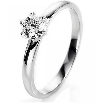 Anello di diamante - 18K 750/- oro bianco - 0.38 ct. Taglia 54