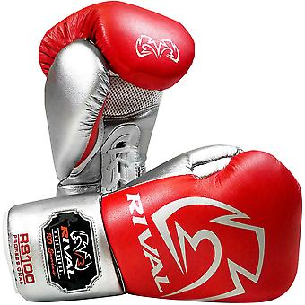 Rival Boxing RS100 Pro Sparring Boxing Gloves - 16 oz. - Red/Silver