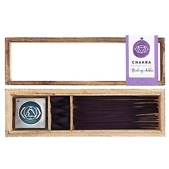 Something Different Third Eye Chakra Wooden Incense Gift Set