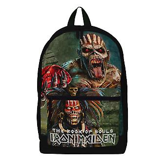 Iron Maiden Backpack Bag Book Of Souls Eddie Band Logo new Official Black