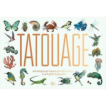 Tatouage 108 Temporary Tattoos of Wild Animals and 21 Art P by Lucille Clerc