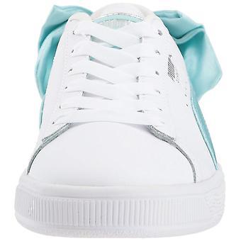 Kids Puma Girls Basket Bow Jr Low Top Lace Up Fashion Sneaker